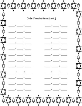 Open Ended Decomposing Numbers Christmas and Hannukah Activity