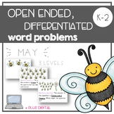Open Ended, Differentiated Word Problems - MAY