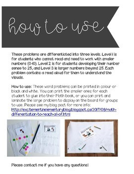Open Ended, Differentiated Word Problems - NOVEMBER