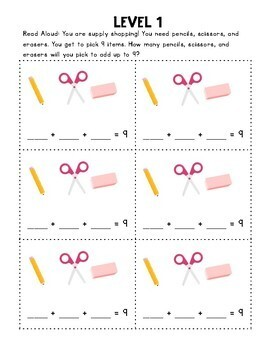 Open Ended, Differentiated Word Problems - SEPTEMBER