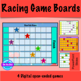 Open Ended Digital Racing Game Boards with Movable Pieces:  PowerPoint Version