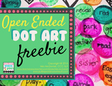 Dot Art Open Ended Freebie (No Prep!!}