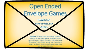 Open-Ended Envelope Games (Various Themes)