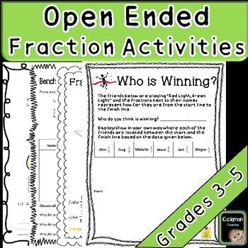 Fraction Open Ended Tasks (No Prep- 3rd-5th)
