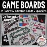 Game Boards, Spinners and Editable Cards