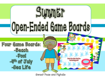 Open-Ended Game Boards for Summer
