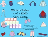 Open-Ended Game:  Winter Clothes 4 of a Kind for Speech Therapy