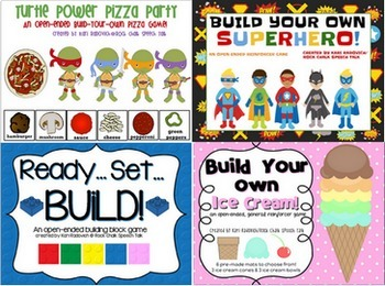 Open-Ended Games Bundle! Includes Superheroes and Building