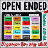 Open Ended Games for ANY skill VOL 1  | BOOM™ CARDS