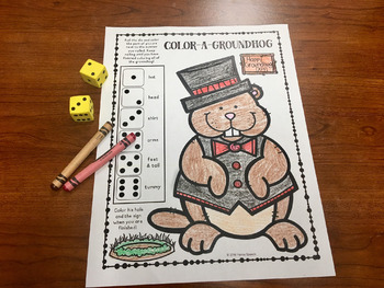 Open-Ended Groundhog Day Coloring Activity FREEBIE