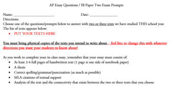 Open-Ended High School Writing Assessment