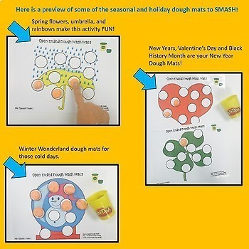 Holiday and Seasonal Open-Ended Play Dough Mats