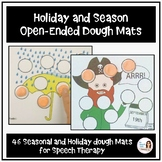 Holiday and Seasonal Open-Ended Dough Mats for Speech Therapy