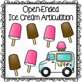 Open-Ended Ice Cream Articulation Worksheet/Homework