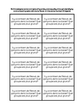 Open Ended Kindergarten Math Journal (en Français)