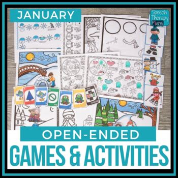 Open Ended Language & Articulation Games - January