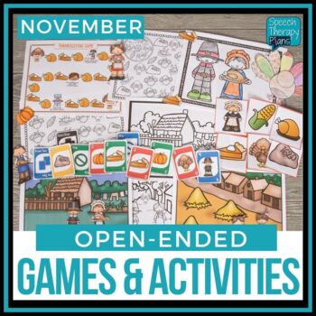 Open Ended Language & Articulation Games - November
