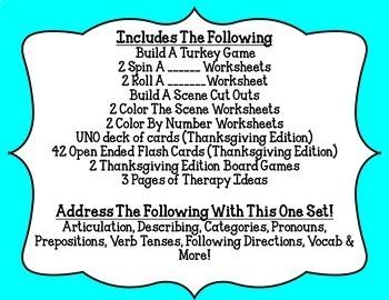 Open Ended Language & Articulation Games - November