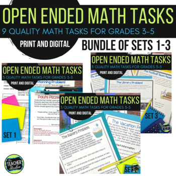Open Ended Math Challenges Problem Solving BUNDLE