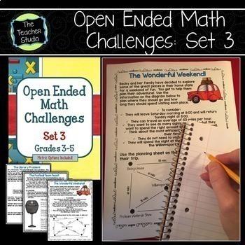 Open Ended Math Challenges Problem Solving BUNDLE
