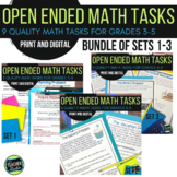 Open Ended Math Challenges Problem Solving BUNDLE includes DISTANCE LEARNING