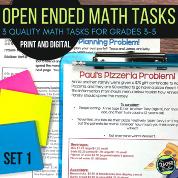 Open Ended Math Challenges Set 1--Problem Solving Grades 3-5