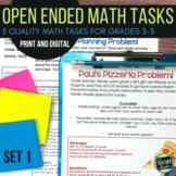 Open Ended Math Task Problem Solving Challenges Set 1 | DISTANCE LEARNING