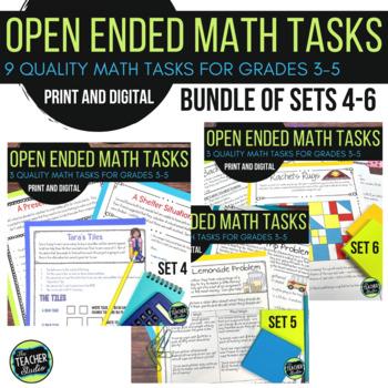 Open Ended Math Challenges Problem Solving BUNDLE Sets 4-6