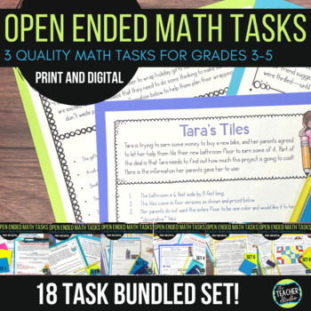 Open Ended Math Challenges Problem Solving BUNDLE Sets 1-6 | Distance Learning