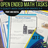 Open Ended Math Problem Solving Challenges Set 3 with DISTANCE LEARNING options