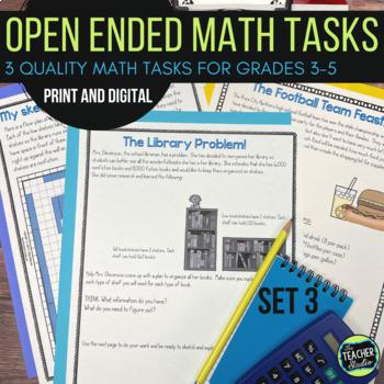Open Ended Math Challenges Set 3--Problem Solving Grades 3-5