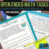 Open Ended Math Challenges Set 2--Problem Solving Grades 3-5