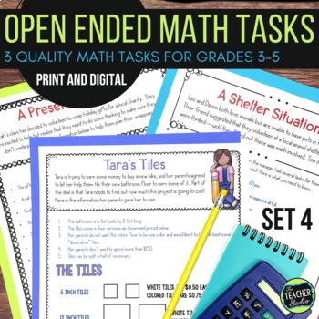 Open Ended Math Challenges Set 4--Problem Solving Grades 3-5