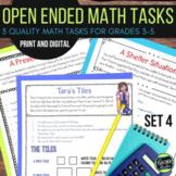 Open Ended Math Problem Solving Challenges Set 4