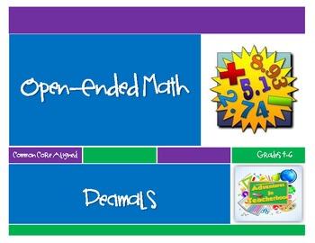Open-Ended Math Journal Prompts: Decimals (Common Core Grades 4-6)