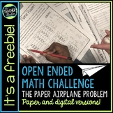 Open Ended Math Problem Solving Challenges FREEBIE Digital