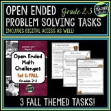Open Ended Math Problem Solving Tasks Grade 2-3 Fall Edition