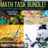 Open Ended Math Problem Solving Tasks Grade 2-3 GROWING BUNDLE