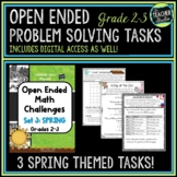 Open Ended Math Problem Solving Tasks Grade 2-3 Spring Set | Distance Learning