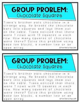 Open Ended Math Problems for Group Work - Whole Numbers