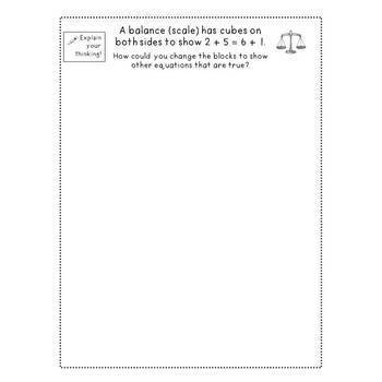 Open-Ended Math Prompts: First Grade