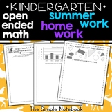 Open-Ended Math Prompts: Kindergarten