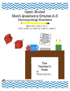 Open-Ended Math Questions: Decomposing Numbers, Grades 2-3