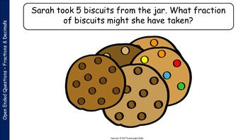 Open-Ended Math Questions - Fractions and Decimals with Student Response Sheet