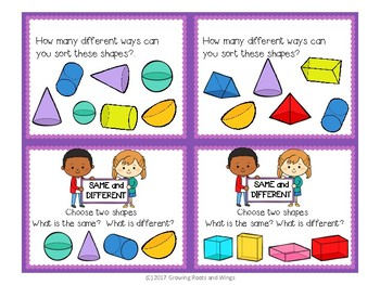 Open Ended Math Questions-Geometry-First Grade