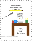 Open-Ended Math Questions Grades 2-3