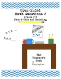 Open-Ended Math Questions Grades 2-3 Evens & Odds, Rounding