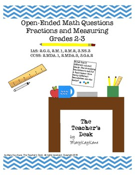 Open-Ended Math Questions Grades 2-3, Fractions & Measuring