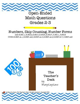 Open-Ended Math Questions, Grades 2-3, Numbers, Number Forms, Skip Counting