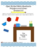 Open-Ended Math Questions Grades 2-3, Polygons and Area!